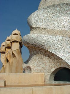 Organic Architecture, Art And Architecture, Barcelona, Antoni Gaudi, World, Places, Spirals, Houses, Travel
