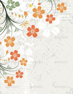Floral Frame ...  abstract, art, artwork, background, beautiful, blot, border, bud, card, decoration, design, filigree, floral, flower, foliage, frame, grunge, illustration, invitation, ornament, retro, shape, silhouette, spring, stain, summer, trendy, vector, wallpaper