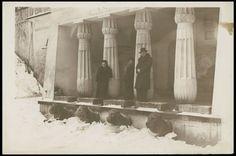 Na zdjęciu -Świątynia Egipska w Łazienkach.- 1937 rok. Fot. źródło Polona