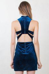 vestido de veludo 2017 3