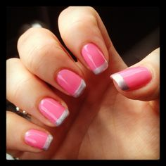 I don't normally like the colored french tip style, but this is awesome.