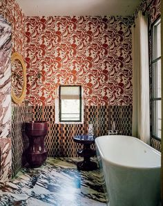 The bathroom of the hotel Villa des Alyscamps in Arles, France.