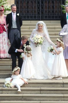 It's Royal Wedding Day! Lady Gabriella Windsor and Thomas Kingston Marry at St. Royal Brides, Royal Weddings, Beautiful Wedding Gowns, Wedding Dresses, Royal Wedding Gowns, Lord Frederick Windsor, Wedding Bells, Wedding Day, Church Wedding