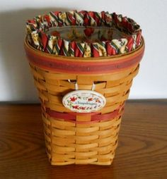 Longaberger Snapdragon Basket Set 1998 Retired ussed many many times as a vase for flowers
