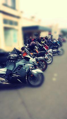 Members of MOTR(Mates On The Road).Blackdog Riders. Advocacy of mental health. Touring Tasmania Aust Nov 2014