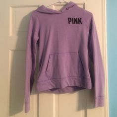 VS hoodie VS Pink hooded sweatshirt. Pocket in front. Inside is soft fleece. In great condition only worn once or twice Victoria's Secret Sweaters