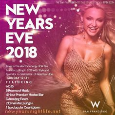 Revel in the electric energy of San Francisco, and ring in 2018 with style and splendor this NYE. Live it up in our playful Living Room, glam Upstairs Bar and vibrant event spaces, and enjoy live sets by San Francisco's top DJs while indulging in a 4-hour premium open bar. For those who really want to remix the new year, step into the scene and experience exclusive treatment in our coveted VIP Lounge, featuring a private dance floor and bar, photo booth and more!