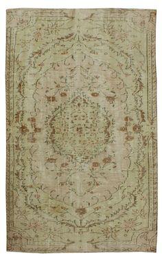 239 x 143 CM Vintage tappeto turco crema colore rosa di RugPassion