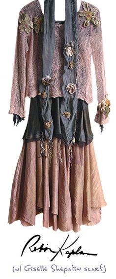 Robin Kaplan outfit & Gisele Shepatin scarf