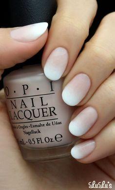 White Ombre Nail #nails #nailart