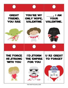 What a fun idea for free Star Wars DIY Valentine Card ideas. There are so many creative ways to share these Valentines with others with lots of frugal love!