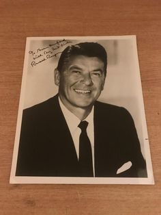 Rare Original Hand Signed 10 x 8 Ronald Reagan Photograph Ronald Reagan, Photograph, Hands, Signs, The Originals, Antiques, Ebay, Things To Sell, Photography