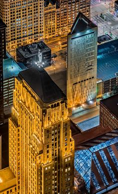 CBOT and MCC - Above the Chicago Board of Trade and the Metropol