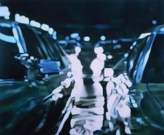 CARS(THE FURY), 2004 oil on canvas 58 x 70 inches    Judith Eisler Grisaille, Blur, Juices, Oil On Canvas, Contemporary Art, Cars, Architecture, Creative, Illustration