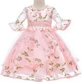 Children clothing Baby Girls Flower Tutu Dress Party Formal Princess D – Trending Accessories Girls Party Dress, Baby Girl Dresses, Baby Dress, Pink Dress, Dress Party, Party Dresses, Dress Girl, Gown Dress, Prom Party