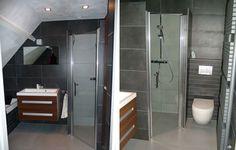 large grey tiles in a bathroom at welke.nl