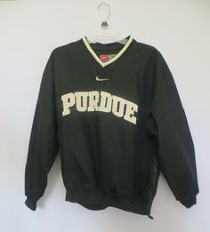Men's Small Nike Team Purdue University Pullover Pockets and Zipper Side  #Nike #PurdueBoilermakers
