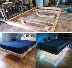 Bed Frame Design, Diy Bed Frame, Bedroom Bed Design, Bedroom Decor, Wood Box Design, Bedroom Shelves, Bedroom Signs, Budget Bedroom, Bedroom Ideas