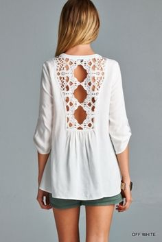 Shop White Half Sleeve With Lace Blouse online. SheIn offers White Half Sleeve With Lace Blouse & more to fit your fashionable needs. Plus Size Maxi Dresses, Casual Dresses, Umgestaltete Shirts, Mode Crochet, Mode Inspiration, Dress Me Up, Pulls, Spring Summer Fashion, Passion For Fashion