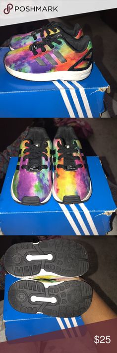 Adidas ZX Flux Size 6C These are in like new condition. My daughter wore  these less than 3 times. I originally paid  50 for these adidas Shoes  Sneakers e2d0eaf8e1f2