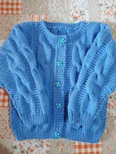 Baby Cardigan Knitting Pattern Free, Easy Knitting Patterns, Knitting For Kids, Knitting Designs, Baby Knitting, Girls Sweaters, Knit Crochet, Clothes, Junho