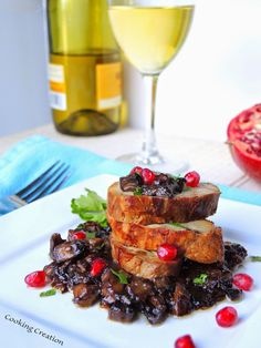 Juicy Pork Tenderloin with White Wine & Shiitake Mushroom Pan Sauce