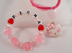 Hello Kitty Bracelet  and Pendant Custom by AprilSnowJewelry, $18.00