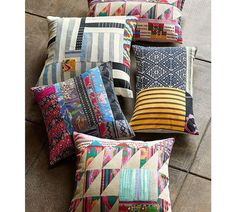 Pauline Boyd Patchwork Nightstorm Stripe Cushion Cover