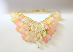 Clearly pastel layered beads necklace