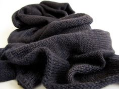 Long Cashmere/Silk Striped Scarf