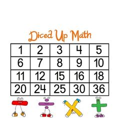 Diced Up Math Game FREE and FUN!