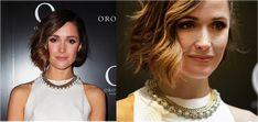 """You can also ask your stylist for a long """"A-line"""" bob in which the back is about 1 1/2 inches shorter than the front. The length is perfect for an oblong face and, with some wavy curls and highlights, the sides are really filled out"""