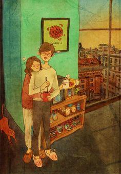 모닝 커피(Morning coffee) by 퍼엉 on