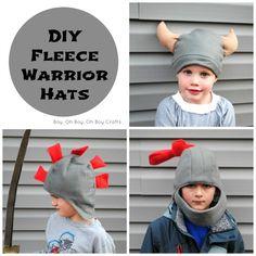 """Tolle Mütze als Ritterhelm / Ritter, Wikingerhelm / Wikingerhelm, und Gladiatorhelm/ Helm - KU ca 45-50cm - Boy, Oh Boy, Oh Boy Crafts: Handmade Gifts For Boys: Fleece Warrior Hats 18"""" - 20"""", Viking, Knight, Gladiator"""