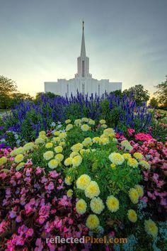 """Bright Hope"" Jordan River LDS Temple http://reflectedpixel.zenfolio.com/ldstempleart/e713a9a Mormon"