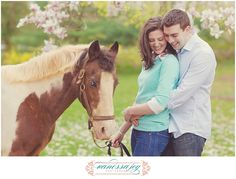 Vanessa Joy Engagement Session Outfit Idea on Horse Farm - can't wait for their NJ Wedding