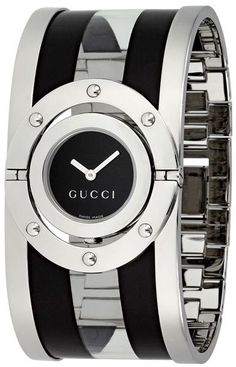 5651fb36fae Gucci Women s Twirl Black and Transparent Acetate Bangle Watch Latest  Fashion For Women