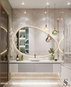 Washroom Design, Bathroom Design Luxury, Modern Bathroom Design, Bathroom Lighting Design, Home Room Design, Home Interior Design, House Design, Design Desk, Interior Livingroom