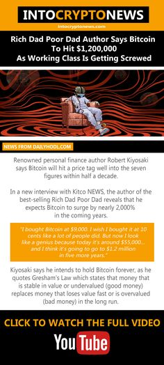 Renowned personal finance author #RobertKiyosaki says #Bitcoin will hit a price tag well into the seven figures within half a decade. In a new interview with Kitco NEWS, the author of the best-selling #RichDadPoorDad reveals that he expects Bitcoin to surge by nearly 2,000% in the coming years. Half A Decade, Rich Dad Poor Dad, Robert Kiyosaki, Cryptocurrency News, Working Class, Personal Finance, Interview, Dads