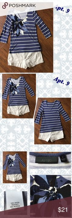 🎈 SALE 🎈 Stylish Apt. 9 Top Adorable Apt.9 top with exquisite detailing. Size small, see pics for more details. Apt. 9 Tops