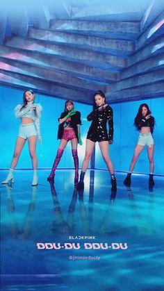BLACKPINK DDU-DU DDU-DU Blue And White, Rose, Yg Entertainment, Color Rosa, Blackpink Photos, Kpop Girl Groups, Kpop Girls, Girl Bands, Blackpink Jennie