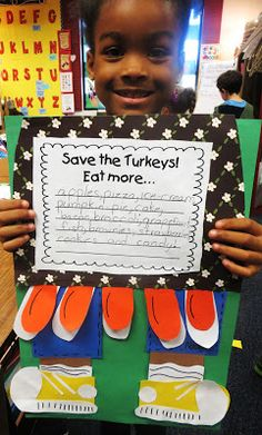 First Grade Wow: 'Twas the Night Before Thanksgiving - craft freebie and other free activities