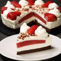 Himbeer Joghurt Torte ohne backen Sommertorte Kühlschranktorte no bake no-bake summer cake Himbeeren Easy Cake Recipes, Sweet Recipes, Dessert Recipes, Delicious Desserts, Yummy Food, Summer Cakes, Sweet Cakes, Food Cakes, Themed Cakes