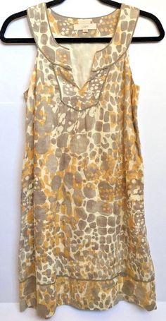 eacd455219 Details about Ann Taylor Loft Women s Brown Ruffle Front Sheath Dress  Sleeveless Size 0 Petite