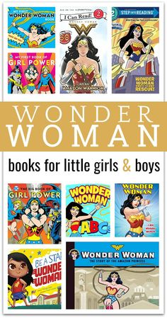 Wonder Woman Book List for kids - superhero books for kids Kindergarten Reading, Kids Reading, Reading Activities, Literacy Activities, Reading Projects, Reading Nook, Time Activities, Literacy Centers, Reading Lists