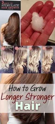 How to Grow Longer Stronger Hair - #hairtutorial #hair #hairgrowth