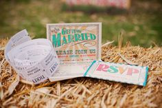 DIY Carnival Wedding: Carnival themed invitations