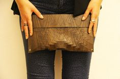 Ecological clutch in wood, MADE IN ITALY.    All our designs are protected by copyright!  The name of this wooden clutch is Aztec    ✩ HANDMADE CLUTCH -