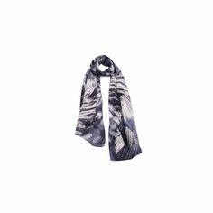 Echarpe Espuma do Mar Azul de Chiffon #echarpes #lenços #lenço #scarf #scarfs
