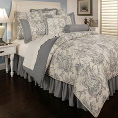 Sherry Kline Country Toile Blue 6-piece Luxury Comforter Set | Overstock.com Shopping - Great Deals on Sherry Kline Comforter Sets